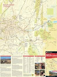 Map Of Santa Fe New Mexico by Santa Fe Mountains Map Adventures