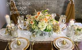 vintage glam wedding a modern update to the vintage glam wedding reception table