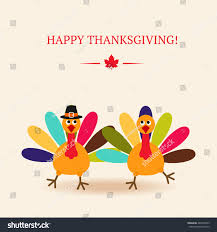 turkey for two on thanksgiving cute colorful cartoon two dancer turkey stock vector 483536995