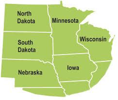 Iowa Illinois Map Service Area