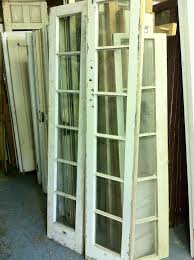 Salvaged French Doors - the beauty of wavy salvaged glass old town home