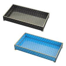 goyard inspired glass trays two colors available u2013 laurier blanc