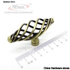 Handles And Knobs For Kitchen Cabinets Antique Satin Nickel Bronze Birdcage Furniture Hardware Cabinet