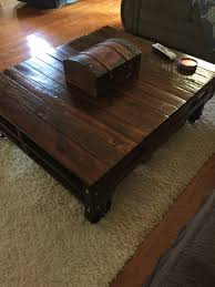 Square Black Coffee Table 11 Examples Of Diy Furniture With Caster Wheels