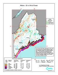 Maine Maps Windexchange Wind Energy In Maine