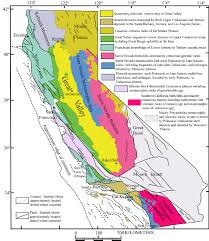 Map Of Calif Simplified Geological Map Of California Modified After Irwin