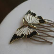 vintage comb shop vintage butterfly hair comb on wanelo