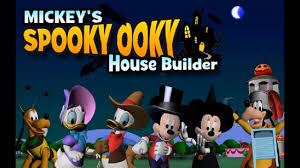 House Builder Online Mickeys Spooky Ooky House Builder Disney Jr Games Mickey