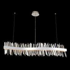 Linear Island Lighting by Allegri Crystal Custom Crystal Lighting Chandeliers Pendants