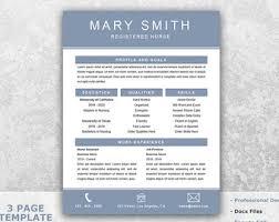 Nursing Job Resume Format by Nursing Resume Etsy
