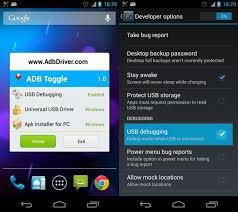 debugging android adb toggle android universal usb driver in android