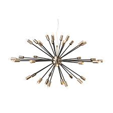 Antique Brass Pendant Light by Nuevo Vladimir Black And Antique Brass 36 Light Pendant On Sale