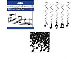 Musical Note Decorations Buy Music Musical Note Party Decor Decorations Party Tape Confetti