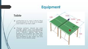 ping pong table playing area table tennis