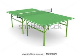 white ping pong table pingpong table isolated on white background stock illustration