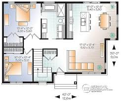 Open Floor Layout Home Plans W3138 Economical Contemporary Modern House Plan With Open Floor