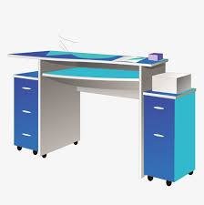 le de bureau bleu le bureau de l ordinateur de bureau bleu bleu table de bureau