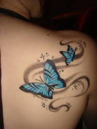 tag pictures of butterfly tattoos on buttocks best design