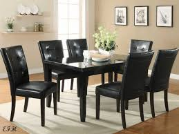 black granite dining room table black dining room table and chairs