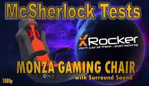 Surround Sound Gaming Chair X Rocker Monza Gaming Chair With Surround Sound Review Youtube