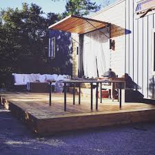 Tiny House Deck by Tiny House Living Three Months In The Good The Bad And The