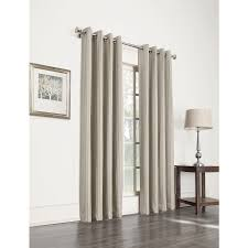 Single Window Curtain by Shop Allen Roth Withern 84 In Straw Polyester Grommet Blackout