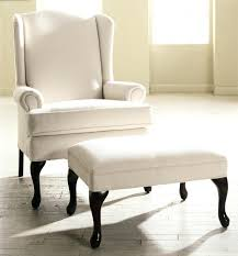 Chair With Matching Ottoman Wingback Chair With Ottoman Exciting White Ap Ottoman With