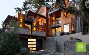 hillside house plans for sloping lots hillside house solves eco and sloping lot challenges