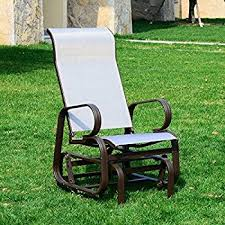 Outdoor Material For Patio Furniture by Amazon Com Outsunny Outdoor Fabric Gliding Chair Patio Lawn