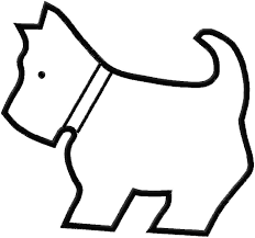 easy outlines of animals embroidery design applique scotty dog 10 00 via etsy