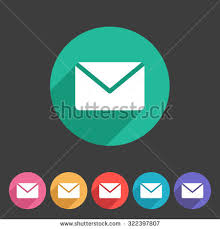 mail post envelope icon flat web stock vector 322397807 shutterstock