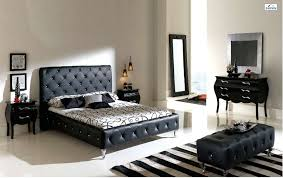 handsome black bed leather design idea plus terrific black wooden