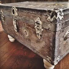 antique white washed trunk coffee table dimensions 18