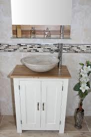 Stone Basin Vanity Unit White Painted Oak Vanity Unit Oak Top U0026 Stone Basin Finish