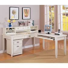 Martin Furniture Kathy Ireland by Tribeca Loft L Shaped Writing Desk With Return And Hutch By Kathy