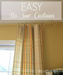diy window treatments our southern home no sew curtain panels artsychicksrule com nosew
