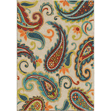 Paisley Area Rugs Orian Rugs Wyndham Multi Paisley 5 Ft 2 In X 7 Ft 6 In Indoor