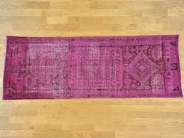 4 u0027 x 11 u0027 wide runner worn down overdyed pink persian hamadan