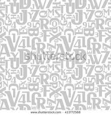 pattern and numbers abstract letters numbers seamless pattern alphabet stock vector