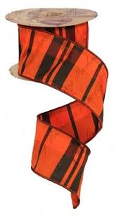 2 5 x 10yd mix mod orange black lime wired ribbon halloween