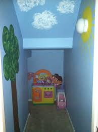 i painted our under the stairs closet and turned it into a play