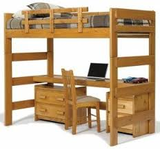 Amazon Com Bunk Bed All In 1 Loft With Trundle Desk Chest Closet by Bunk Bed With Desk And Drawers Foter