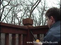 how to wire low voltage deck lights and post caps part 4 youtube