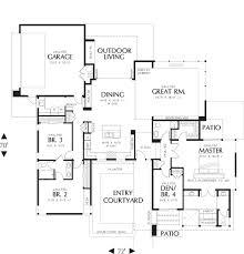 modern style house plan 4 beds 2 50 baths 2507 sq ft plan 48 479
