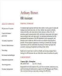 Hr Assistant Resume Samples by 43 Manager Resumes In Pdf
