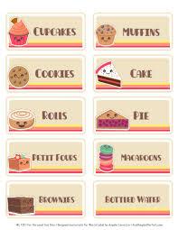 bake sale printable labels set worldlabel blog