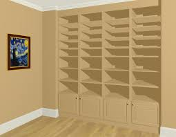 creating built in wall bookshelves