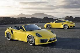 porsche spyder yellow 2017 porsche 911 turbo s beats 918 spyder laferrari in mt launch