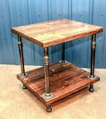 wood and pipe table pipe table industrial end tables wood and pipe table rustic side