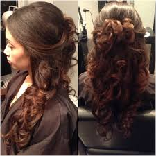 wedding hairstyles ideas curly side ponytail low tuck up do beach